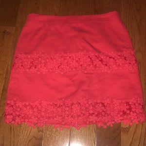 j.crew mini skirt w lace detail